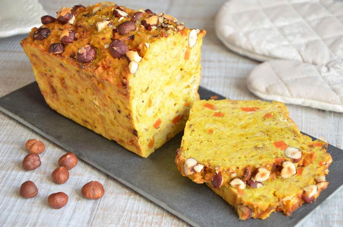 cake lentilles corail, carottes et curry