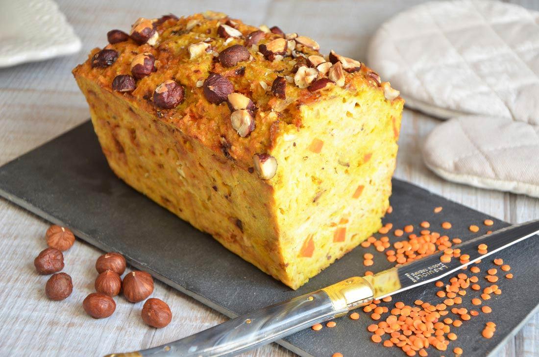 Cake Aux Lentilles Corail Carottes Et Curry