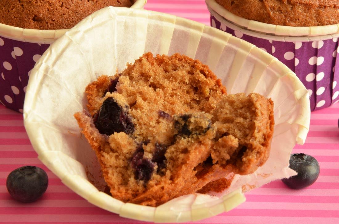 muffins chocolat au lait et myrtilles