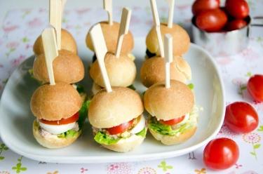 mini pans-bagnats pour l'apéritif