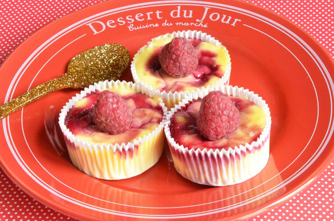 Mini cheesecakes à la framboise