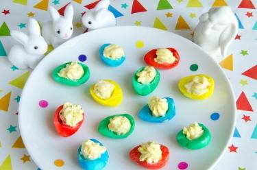 recette d'oeufs de caille multicolores pour Pâques
