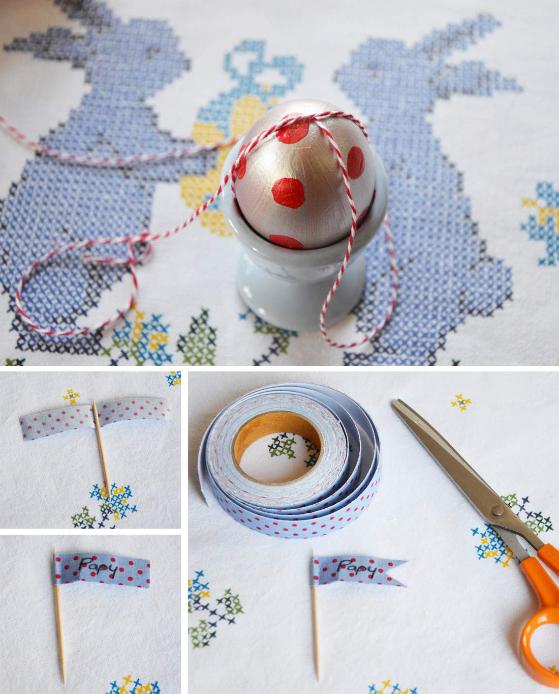 DIY oeufs de Pâques détails
