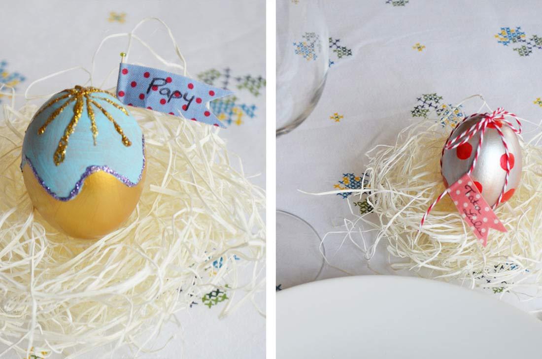 marque place oeufs de Pâques
