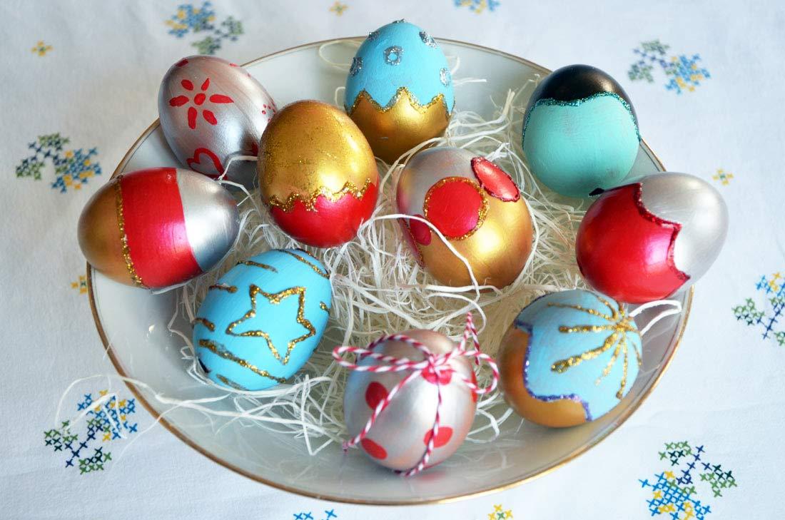 centre de table oeufs de Pâques