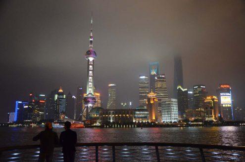 les Tours du Bund à Shanghai