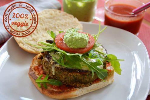 hamburger végétarien aux lentilles
