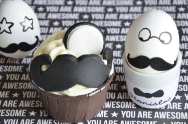 cupcakes moustache