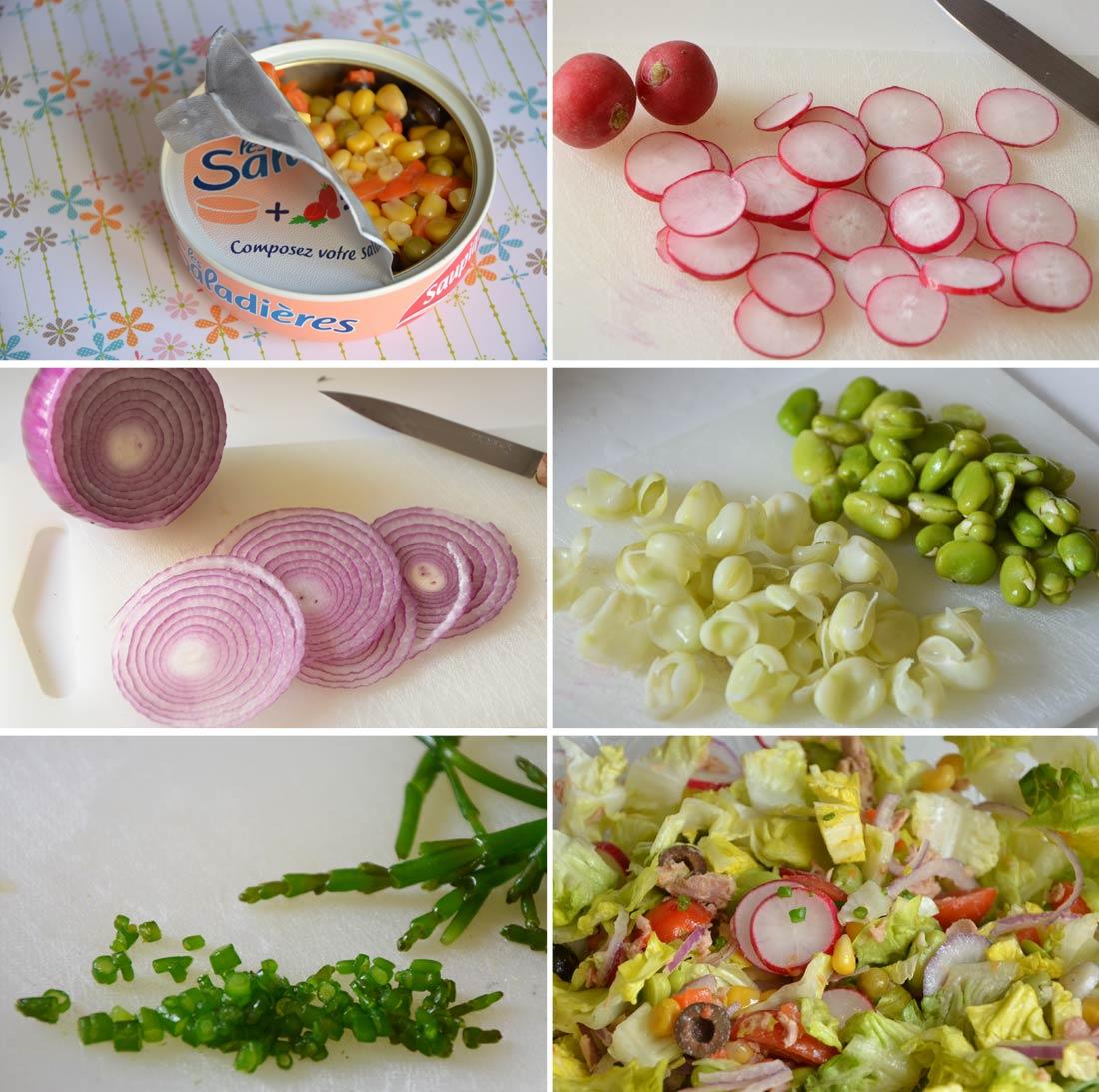 ingrédients salade saupiquet