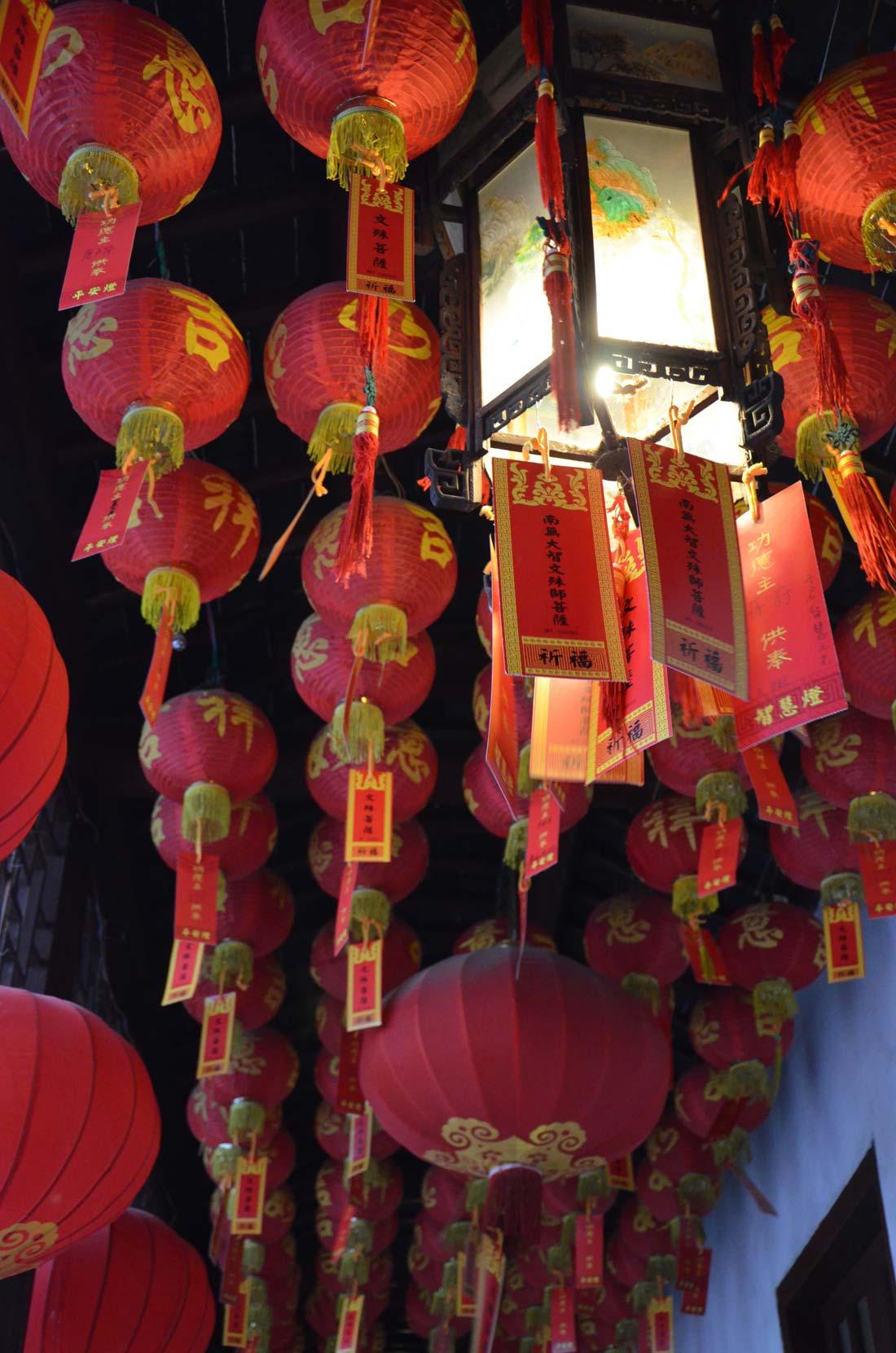 voeux au temple du bouddha de Jade