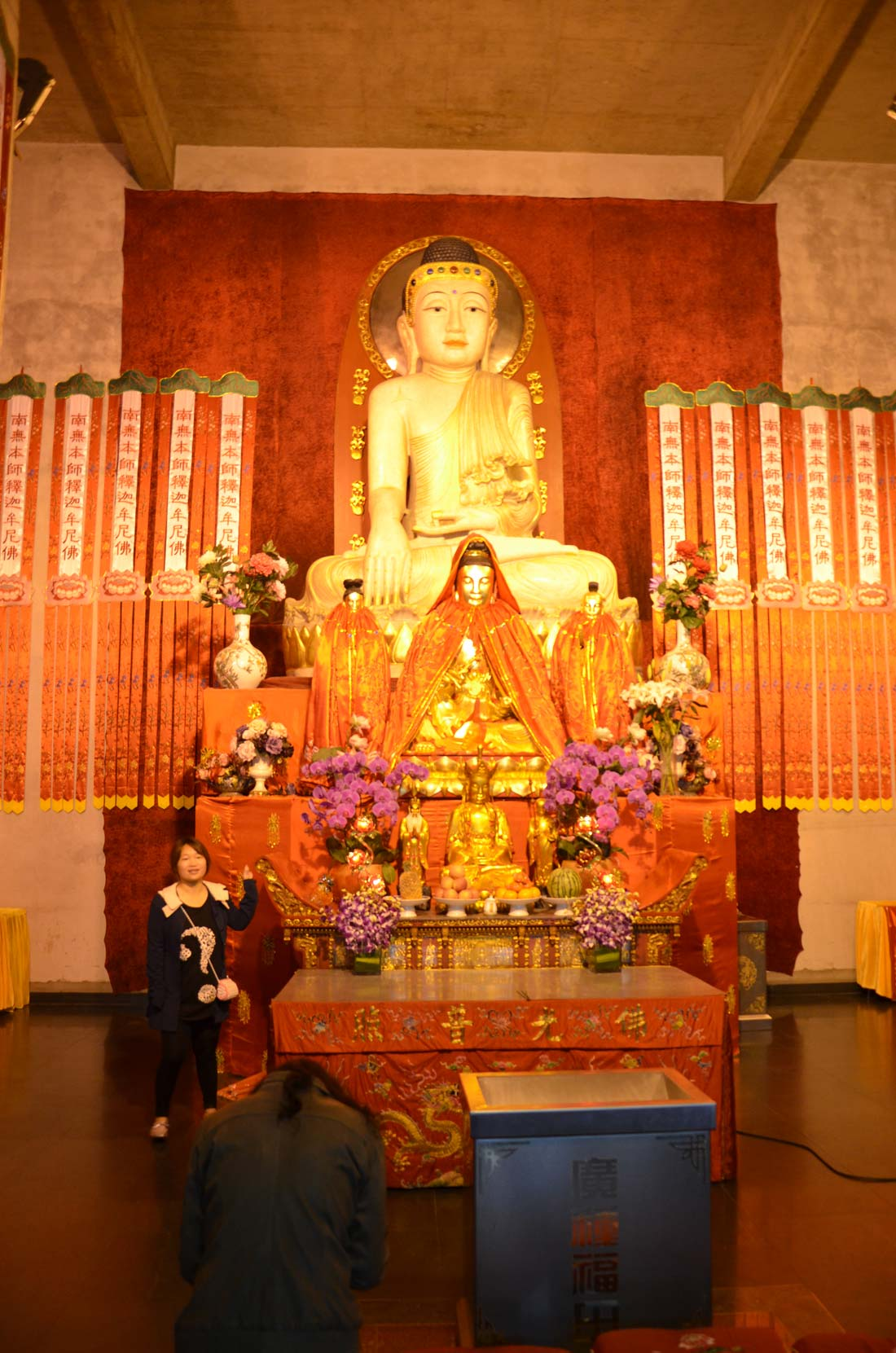 Le temple Jing'an à Shanghai