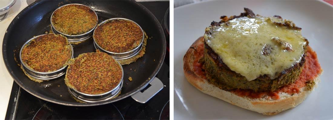 pas à pas burger végétarien de steak de lentilles