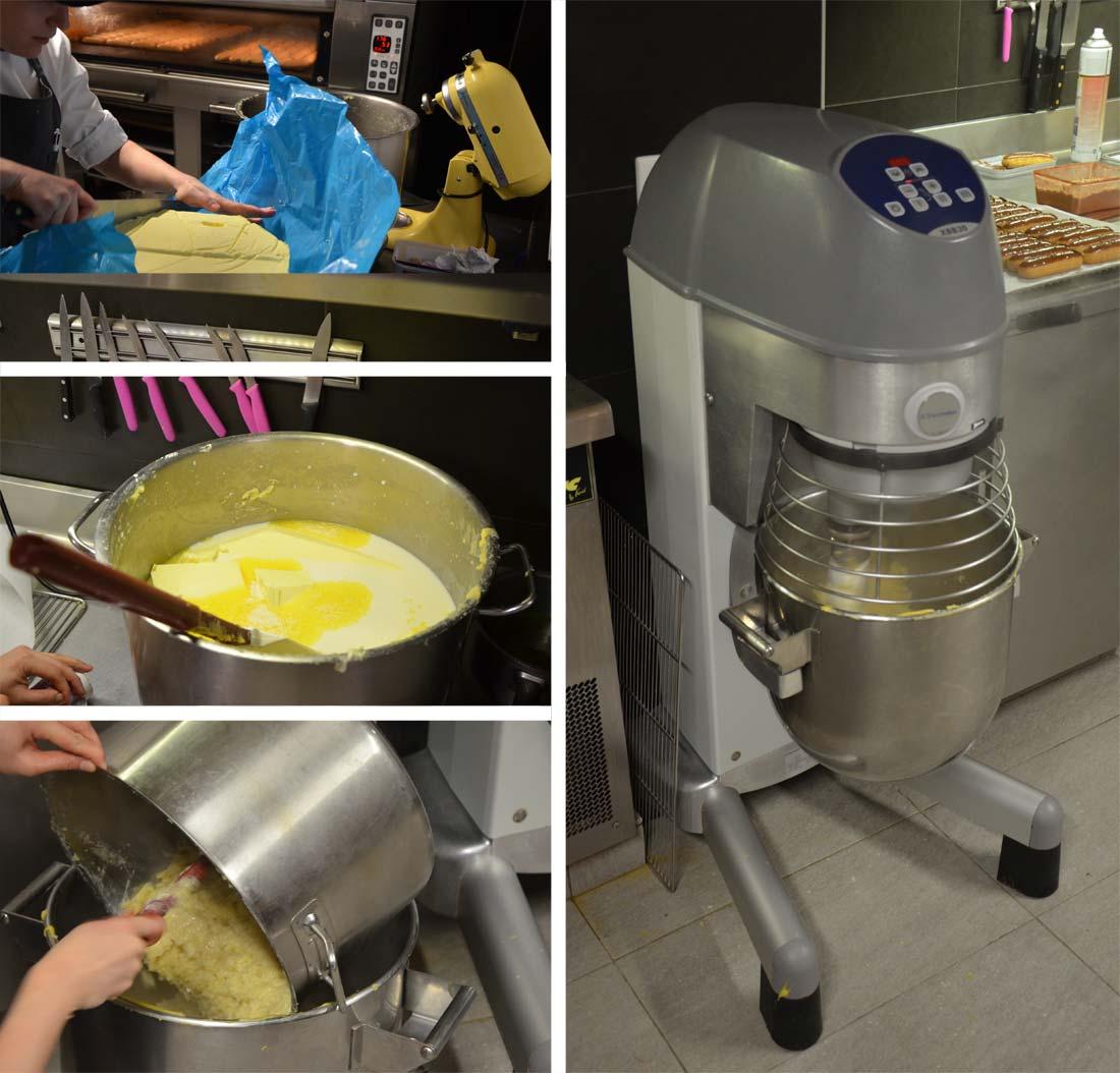 préparation pâte à choux laboratoire de Christophe Adam