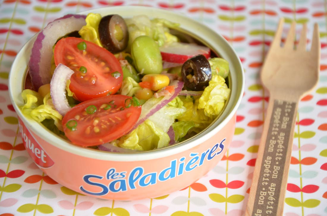 Salicornette réalisée avec une salade saupiquet