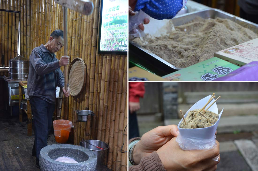 fabricant de pâte de riz à Wuzhen
