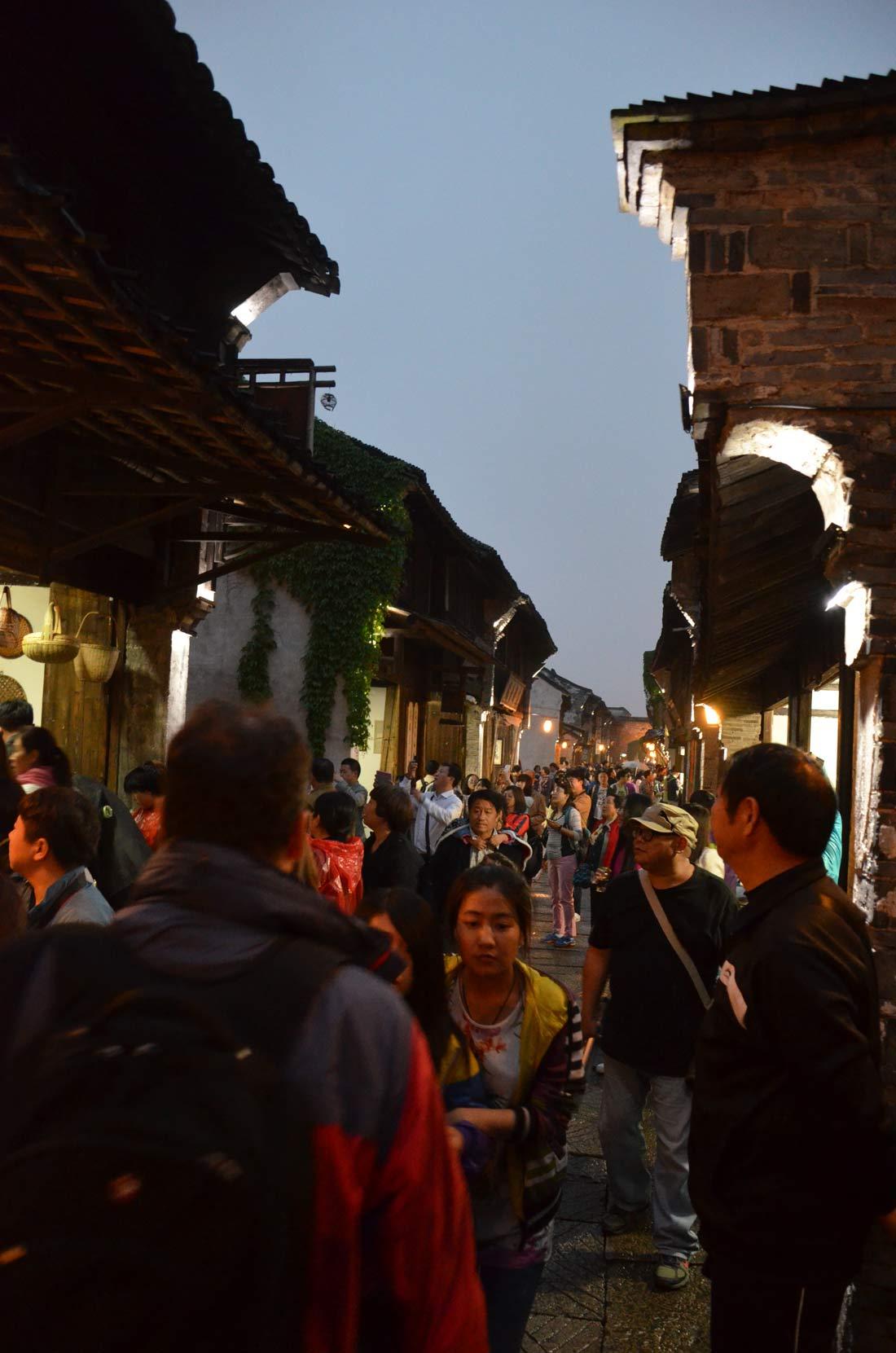 foule dense de Wuzhen