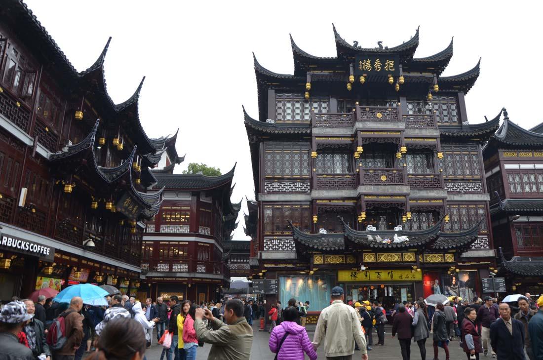 bazar de la vieille ville à Shanghai