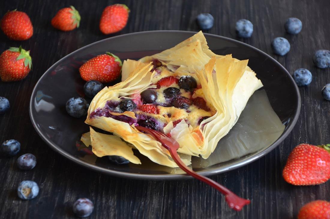 feuilletés frangipane et fruits rouges cuits
