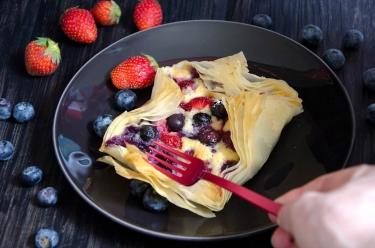 feuilletés fruits rouges frangipane