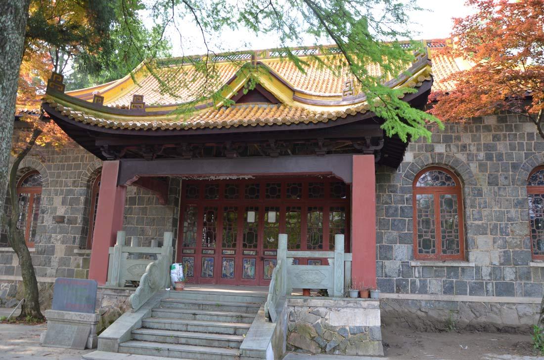 Le yellow temple à Moganshan