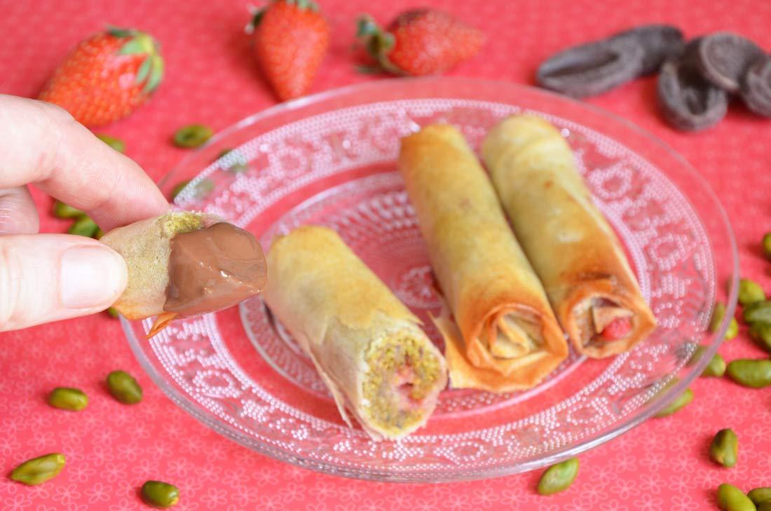 nems fraises et pistaches