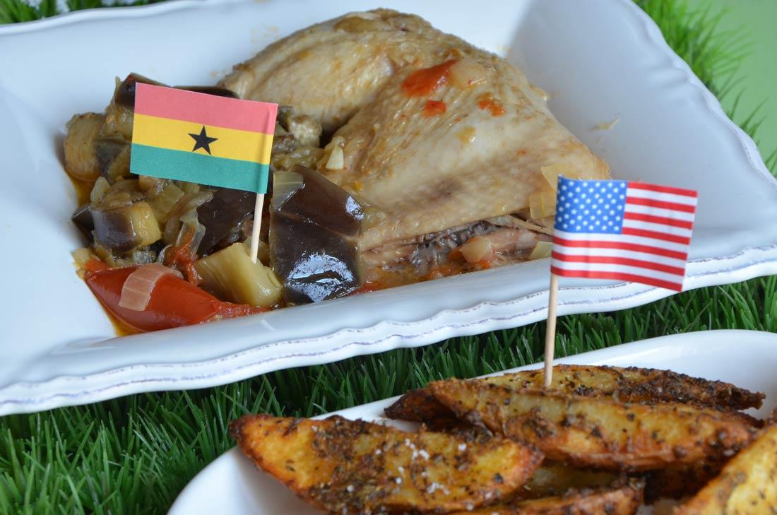 Poulet Kédjénou et potatoes, une recette ghanéenne