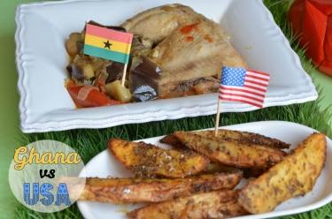 Poulet Kédjénou et potatoes, une recette du Ghana