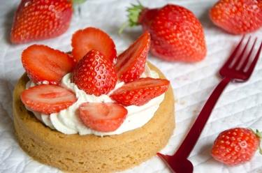 Sablé breton aux fraises de Plougastel