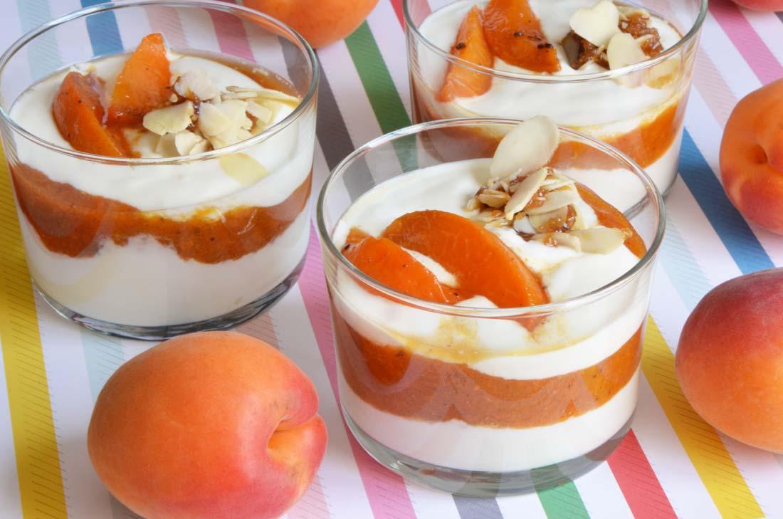 Trifle d'abricots au yaourt