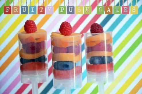des push cakes fruités et vitaminés, parfaits pour les enfants