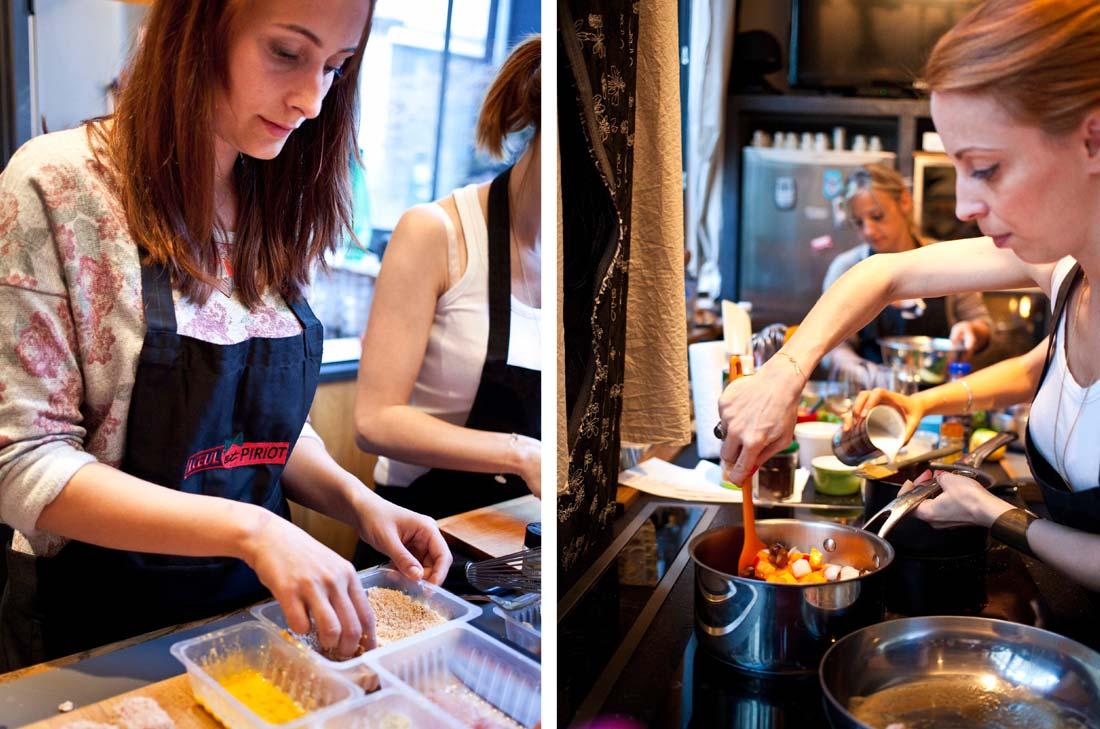 Johanna en cuisine Loeul et Piriot
