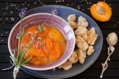 Recette d'abricots rôtis lavande miel