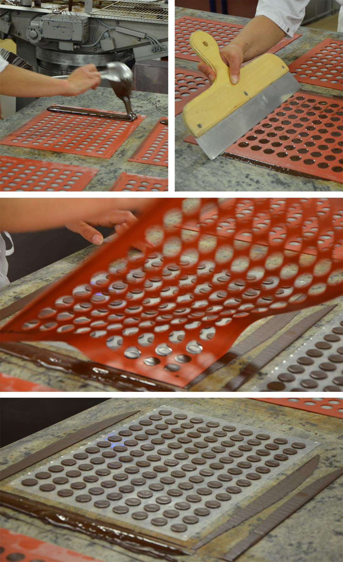 étapes des chocolats Michel Cluizel