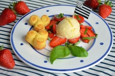 fraises de Plougastel glace à l'huile d'olive