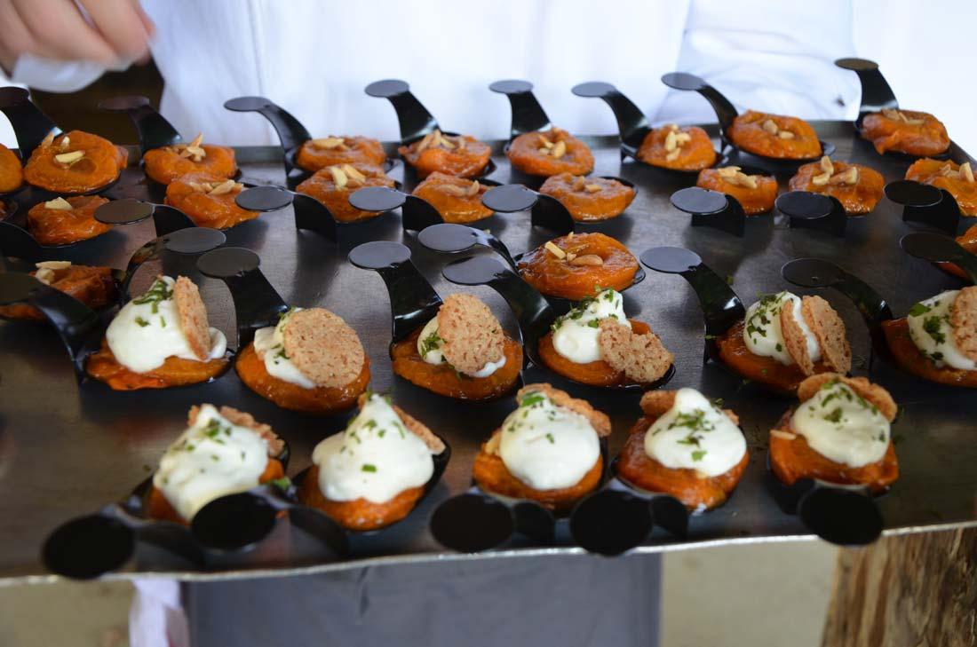 un buffet préparé par Sylvain Guillemot autour du Petit Billy