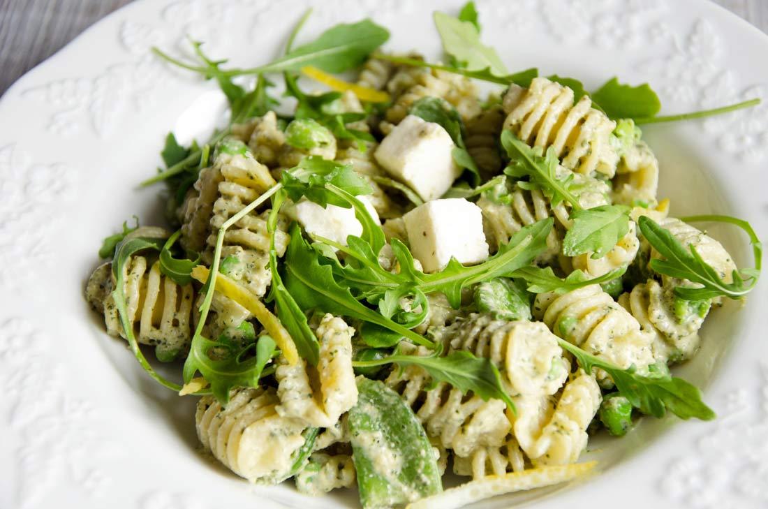 Salade de pâtes pesto menthe citron - Salade Pates Pesto