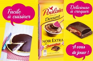 4 tablettes de chocolat poulain et carambar