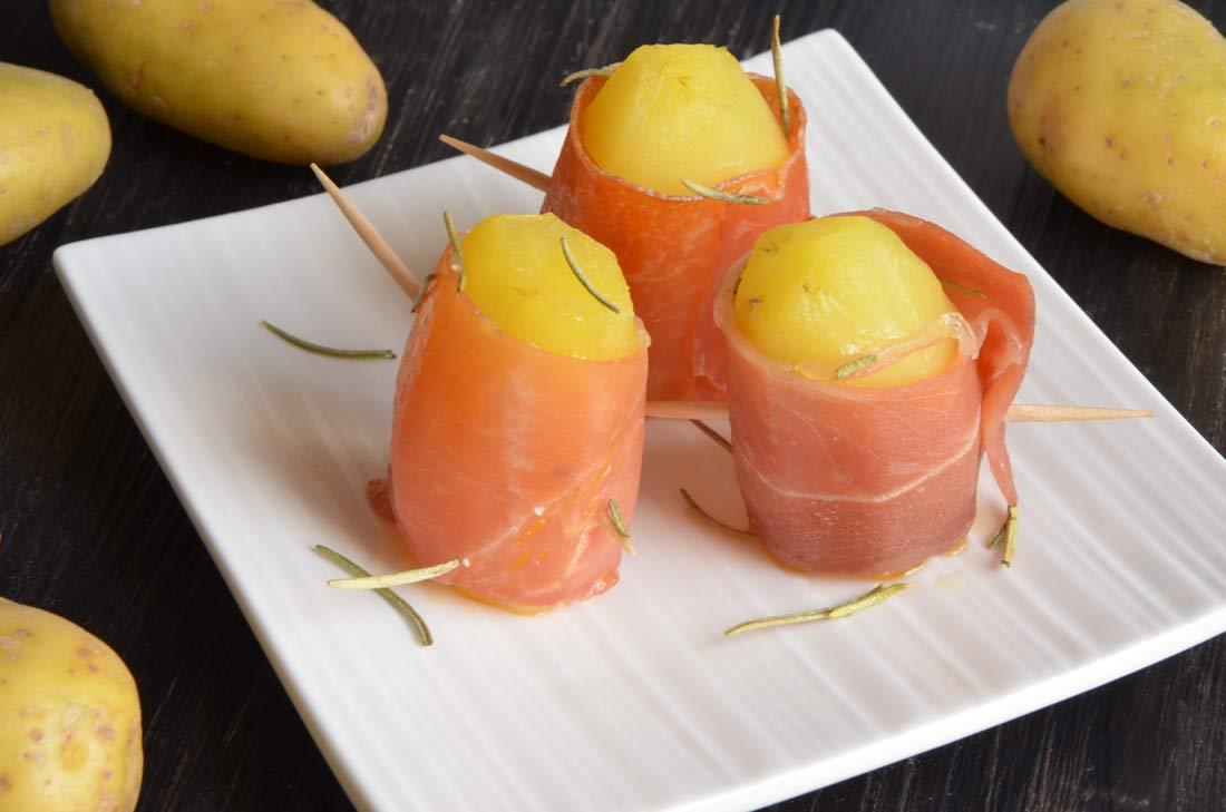 délicieux Makis de pommes de terre au jambon cru