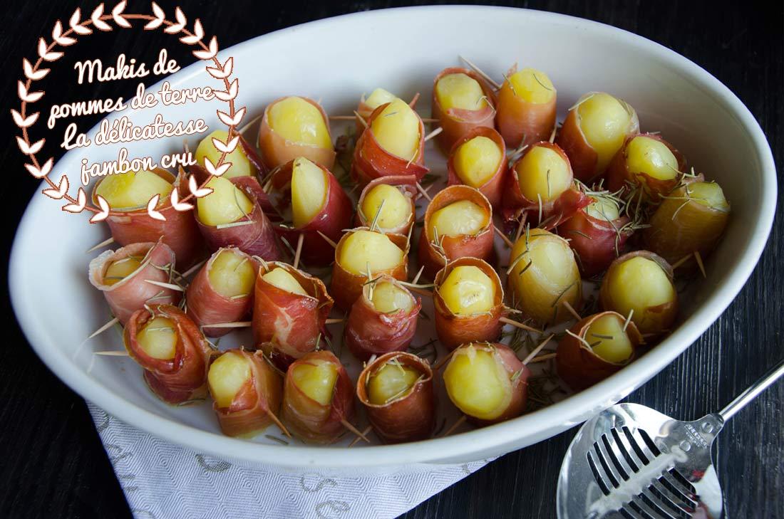 Makis de pommes de terre au jambon cru