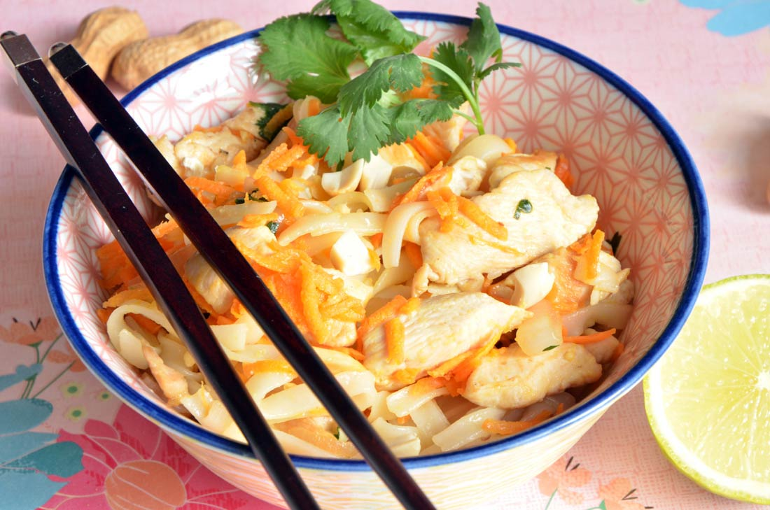 recette maison de pad thaï au poulet