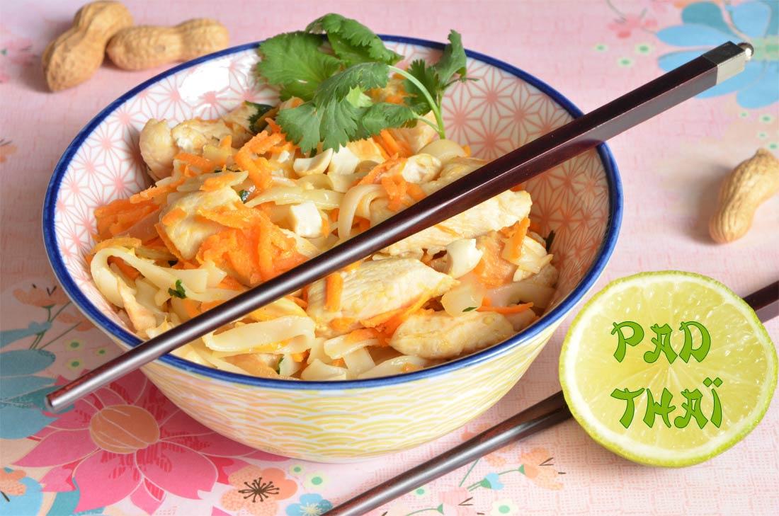 pad thaï au poulet maison