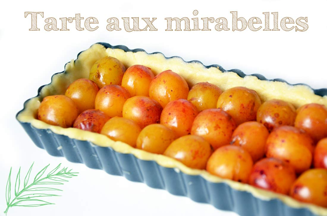 savoureuse Tarte aux mirabelles et amandes