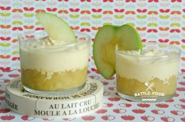 verrines pommes camembert