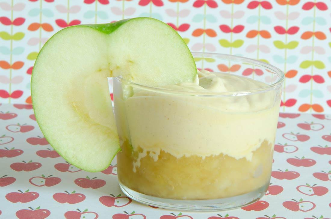 verrines pommes et camembert de Normandie AOP