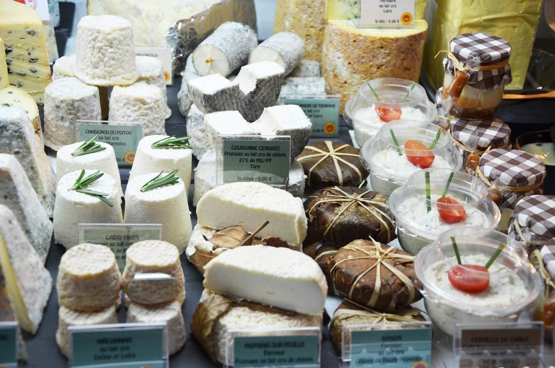 Divers fromages à Rungis