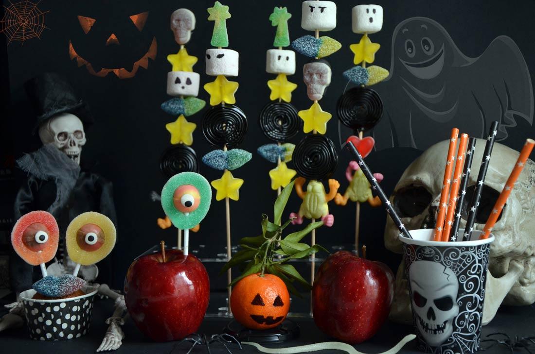 brochette de bonbons pour Halloween