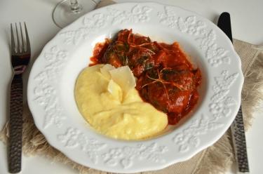 blettes farcies au parmesan et polenta