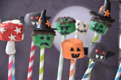 chamallows monstres d'Halloween