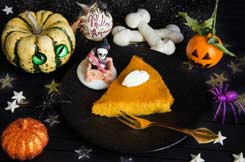 Recettes Halloween : clafoutis potiron muscade