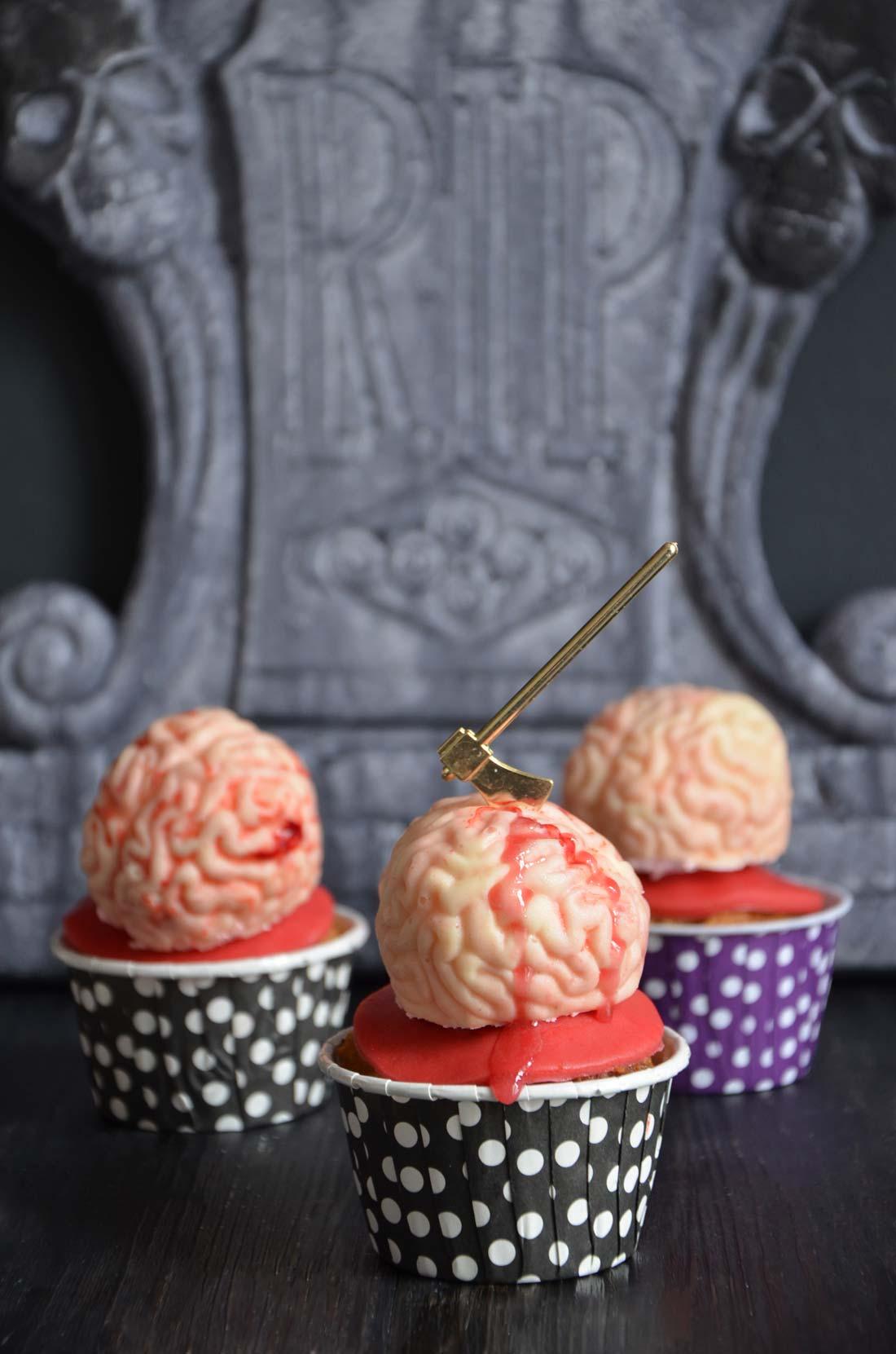 cupcakes cerveaux en guimauve